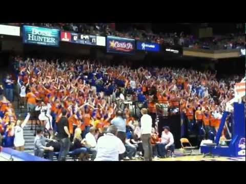 Boise State Basketball Flash Mob - The Corral - Rd. 1