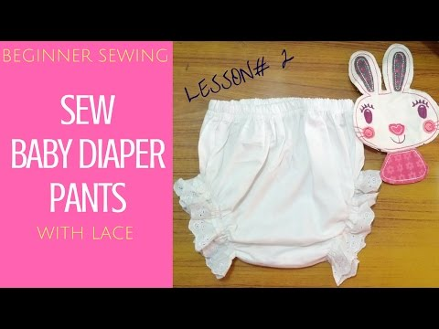 How to Make Baby Diaper Pants with Bloomer Touch - Free Pattern