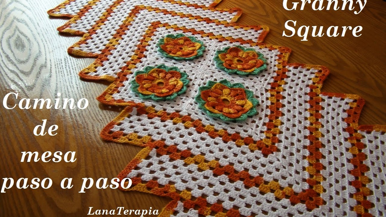 Camino de Mesa: Granny Square Part. 1 / LanaTerapia-Crochet - YouTube