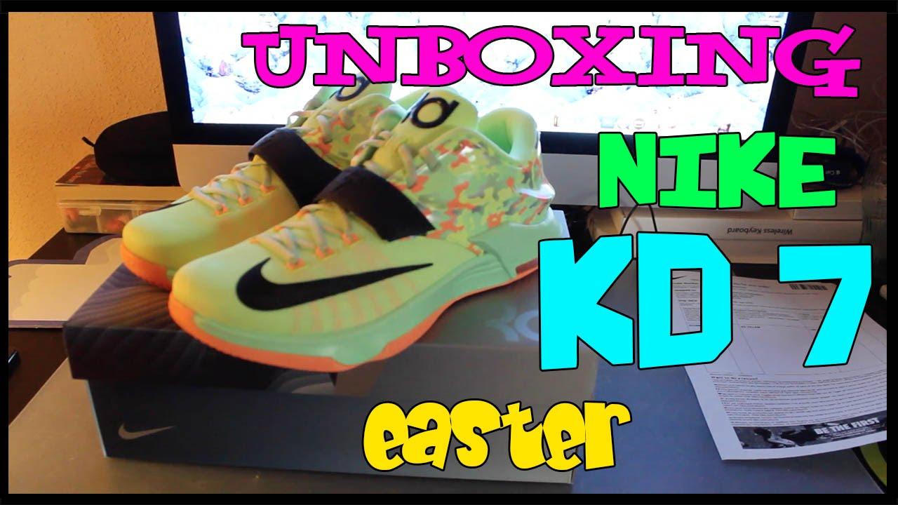 Unboxing NIKE KD 7 Easter   Ferny Sneakers   ESPAÑOL   ENGLISH ...