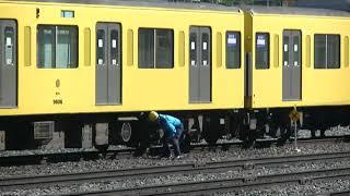 西武鉄道9106F 編成バラし前の作業