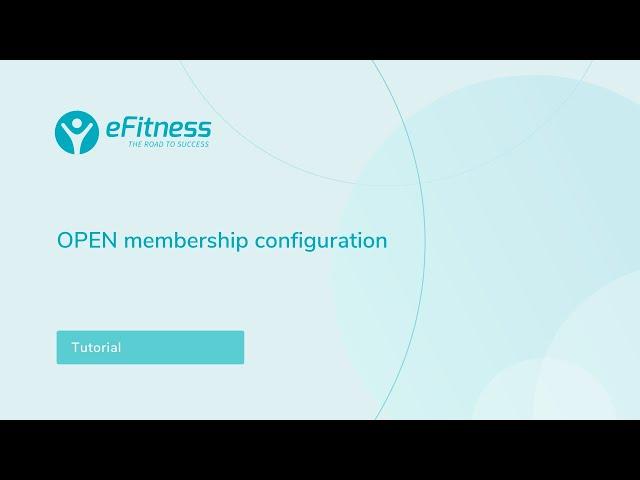 Defining an OPEN type membership