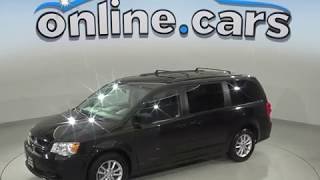 A99583PT Used 2015 Dodge Grand Caravan SXT FWD 4D Passenger Mini Van Black Review, For Sale