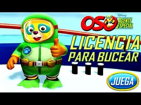 Oso Agente Especial Licencia para Bucear  Juegos para Nios