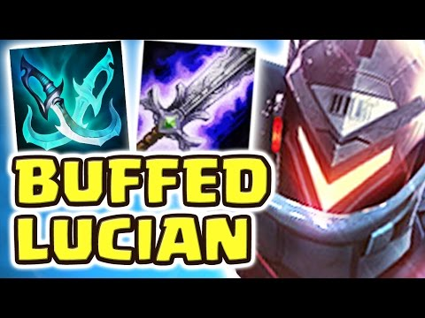 THE BEST ADC NEW BUFFED LUCIAN   FAKER HAS SOME REAL COMPETITION NOW (16 KILLS) - Nightblue3