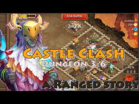 CASTLE CLASH DUNGEON 3.6 [5 RANGE HEROES]