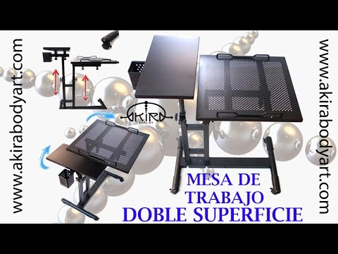 Mesa de trabajo tattoo doble superficie video tutorial for Mesa metalica de trabajo