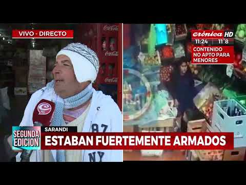 Golpe tipo comando a supermercado chino en Sarandí