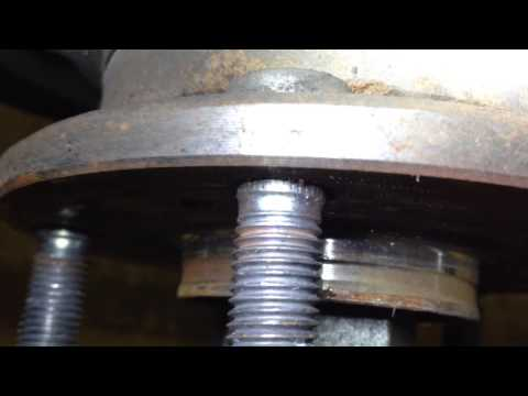 How To Change 2008 Honda Accord Wheel Stud Lug Nut Without Removing Bearing Assembly