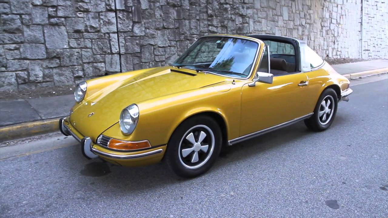 1972 Gold Metallic Porsche 911t Targa For Sale At Motorcar Studio