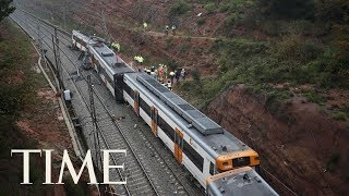 A Spanish Commuter Train Was Derailed By A Landslide, Killing One Person | TIME
