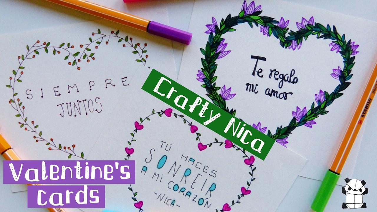 HANDMADE LOVE CARDS 2 Valentines Gift For Boyfriend Or