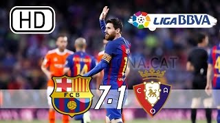 Barcelona vs osasuna 7-1 - all goals & extended highlights la liga 26/04/2017 hd