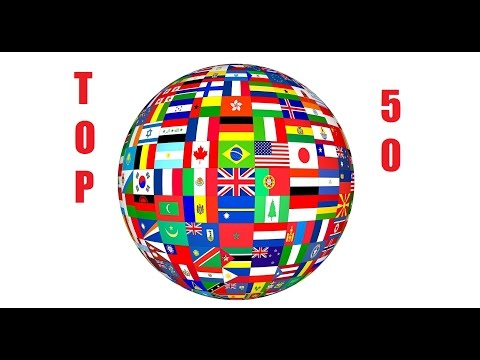 Top 50 Most Populated Countries In The World (2014)