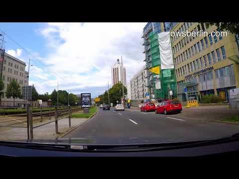 Driving through Leipzig, Germany 2017. Поездка по городу Лейпциг, Германия лето 2017.