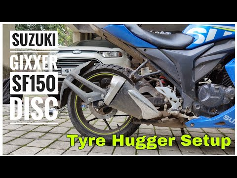 Suzuki Gixxer SF150 Disc Modifications | Tyre Hugger Setup – Rear Mudguard | DIY INSTALL | DNA VLOGS