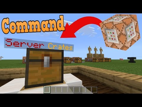 Minecraft: Bedrock Edition/Xbox One/MCPE | Animated Crates Command Block Tutorial Creation