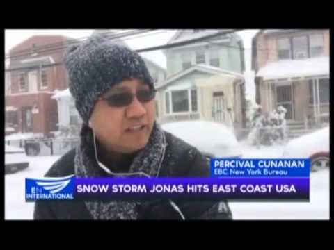 Snow storm Jonas hits east coast USA