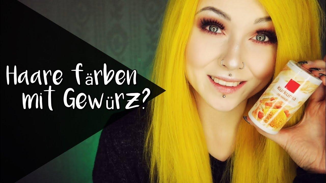OMG - Gelbe Haare mit Gewürzen? GEHT DAS ? - YouTube