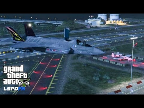 GTA 5 - LSPDFR - EPiSODE 75 - LET'S BE COPS - F-35B Lightning II PATROL (GTA 5 PC POLICE MODS) A-10A