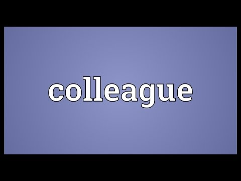 Colleague Meaning