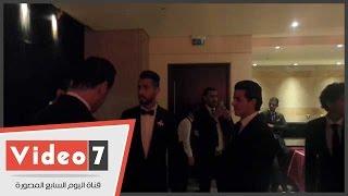 نجوم الاهلى فى زفاف حارس الأهلى أحمد عادل عبد المنعم..