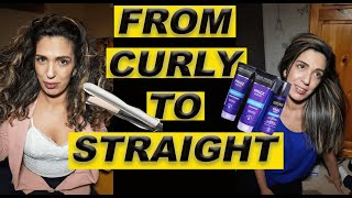 From curly to straight hair  My curly hair  How to straighten curly hair