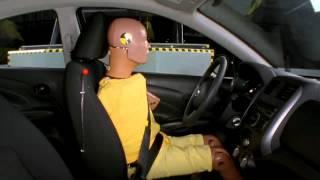 Crash Test 2012 - Nissan Versa / Tiida / Latio (Side Impact) IIHS