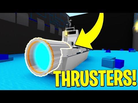 CRAZY THRUSTERS! Build A Boat For Treasure! ROBLOX