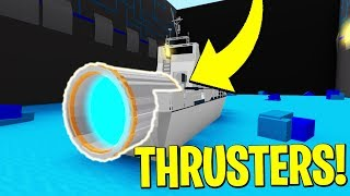 CRAZY THRUSTERS! Build A Boat For Treasure! ROBLOX