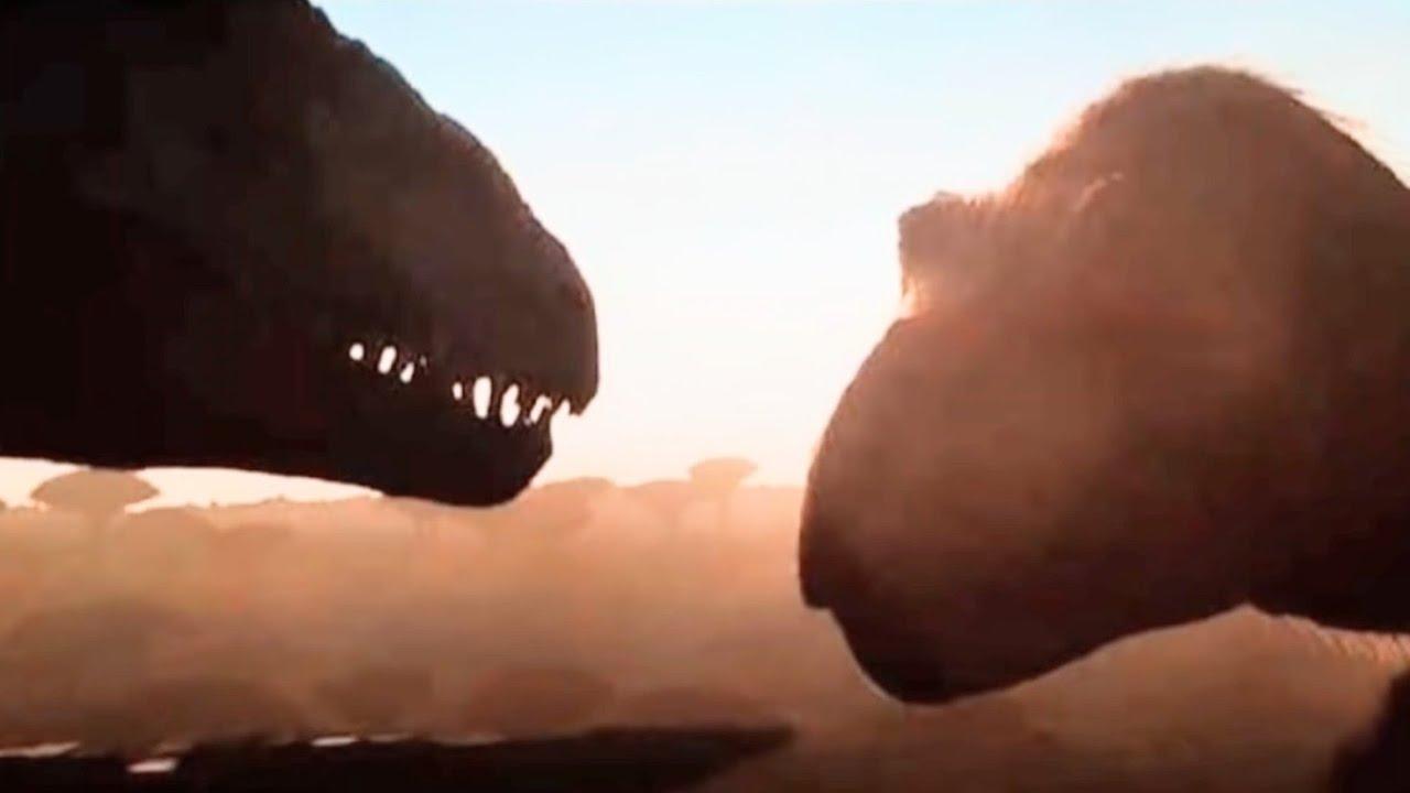 2 NEW Jurassic World Dominion Images! Furry T-Rex vs. Giganotasaurus!