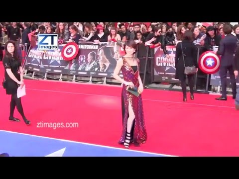 Ryoko Yonekura at the film premiere Captain America: Civil War in London, UK