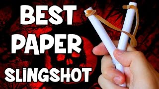 How to Make a Paper Slingshot Easy and Strong | Paper Weapons