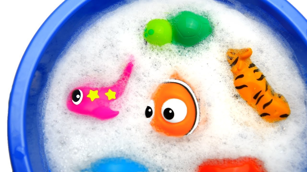 Learn Colors with Animals and Farm Monkey Surprise Toys for Kid Child with Foam