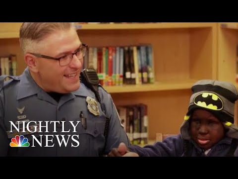 Heartwarming Friendship Between A Boy And His School Resource Officer | NBC Nightly News