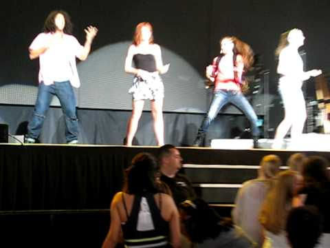 ME on stage with Allyson Stoner & Camp Rock dancers!!!