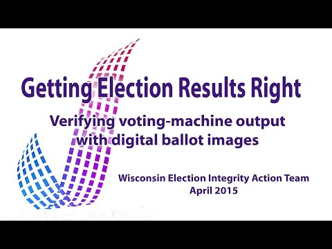 Verifying voting-machine output with digitally imaged ballots