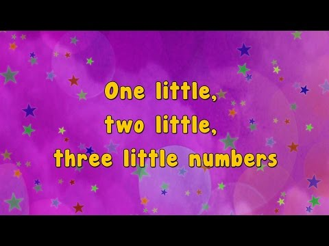 Karaoke - Numbers Song | Ten Little Numbers | Karaoke Rhymes