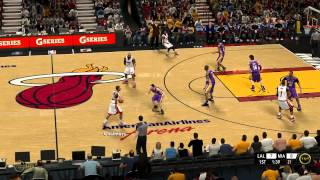 NBA 2K13: TNT TV Gameplay Video MIA vs LAL