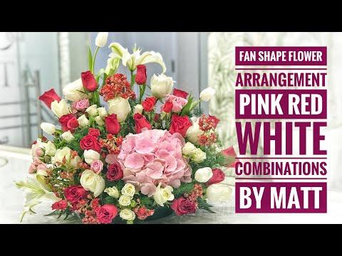 fresh-flower-arrangement---pink,-red-&-white-combinations-by-matt-#freshflowers-#arrangement