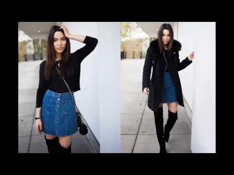 8b351eaa31d1 Denim Skirt Style This Winter - YouTube