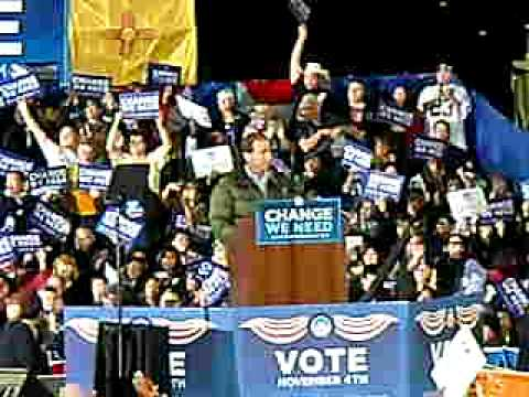 Congressman Tom Udall at Obama Rally