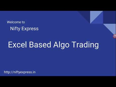 Excel based trading platform