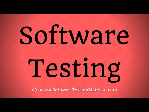 Software Testing - Introduction & Process
