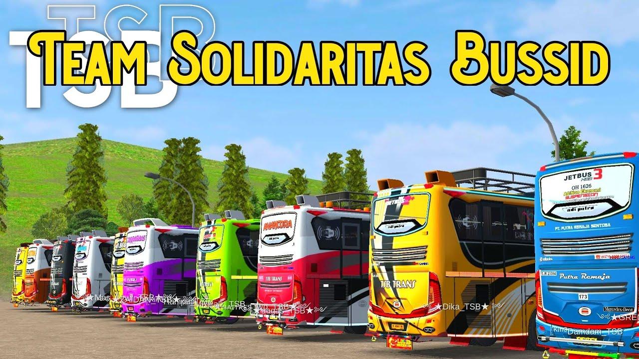 SATU TEAM LIVERY NYA KEREN KEREN!! SANGAT KOMPAK - KONVOI TEAM TSB - Bus Simulator id V3.6.1