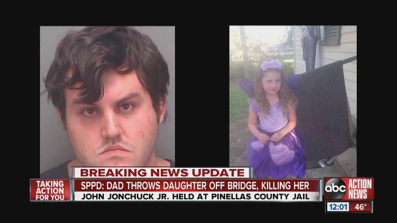 Girl, 5, dead after dad, John Jonchuck Jr., threw her off bridge