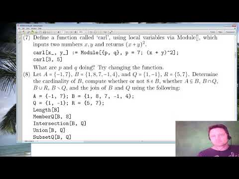 Mathematica Tutorial 2 - Taking Sums