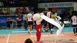 171105 배구 한국전력 vs 우리카드, 빛돌이 공연