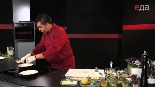 Палтус с голландским соусом