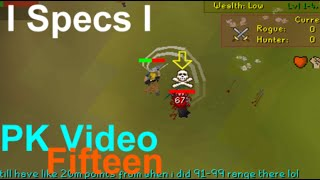 I Specs I PK Video 15   Maxed Rune Pure Old School Runescape Pking